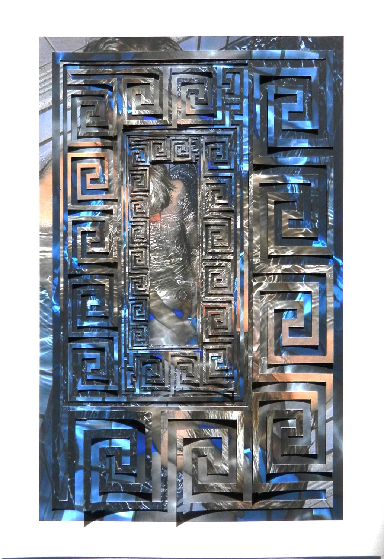 """Swimming Pool Cut Archival Inkjet Prints 12.5"""" x 15.5"""" 2012"""