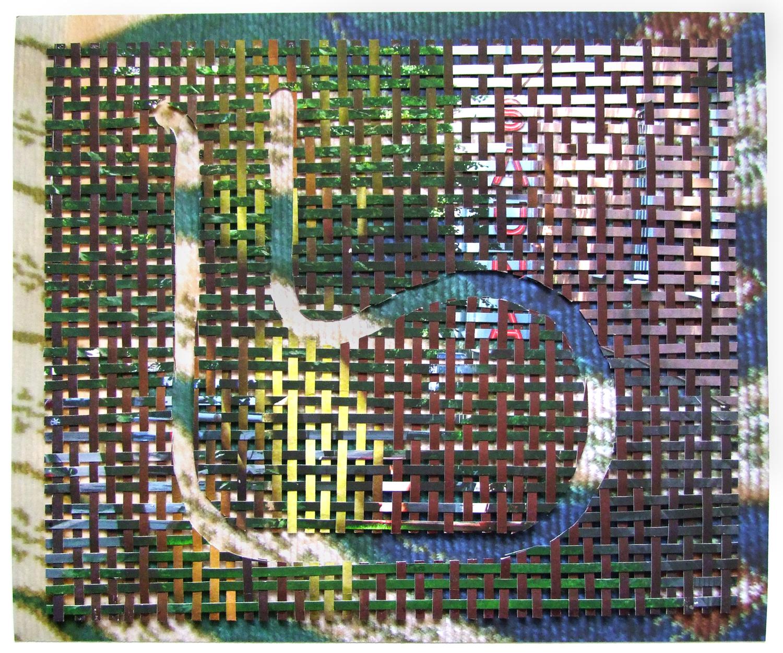 """Kuikka (Loon) Cut and Woven Archival Inkjet Prints 11.25"""" x 9.5"""" 2015"""