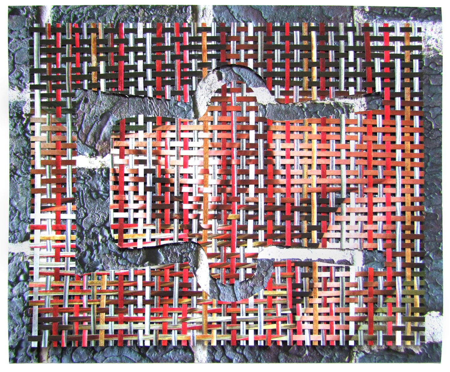 """Tulo (Income) Cut and Woven Archival Inkjet Prints 12"""" x 10"""" 2015"""